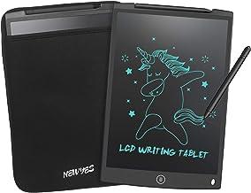 NEWYES 12 Pulgadas Tableta Gráfica, Tableta de Escritura LCD, Portátil para Hogar, Escuela, Oficina, Incluye 1 lápiz, 2 imanes para Nevera,1 Año de Garantía con Funda (Negro)