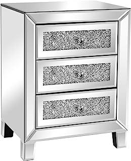 Amazon Com Nightstands Silver Nightstands Bedroom Furniture Home Kitchen