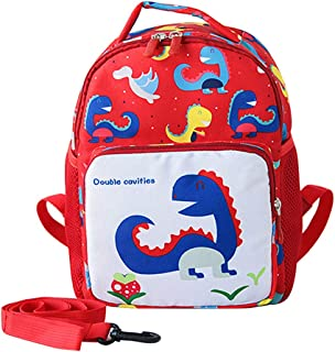 EKUIZAI حقيبة ظهر لطيفة برسومات حيوانات / ديناصور حضانة أطفال حقيبة يومية للأطفال في مرحلة ما قبل المدرسة حقيبة أطفال