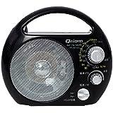 山善(YAMAZEN) キュリオム 野外ラジオ ポータブルラジオ (AM/FM) 防塵・防まつ仕様 YR-M100(B)
