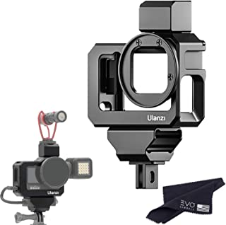 Ulanzi G9-5 CNC Camera Vlog Cage for GoPro HERO9 | Dual Cold Shoe Mounts with Audio Mic Adapter Housing Compatible with Go...