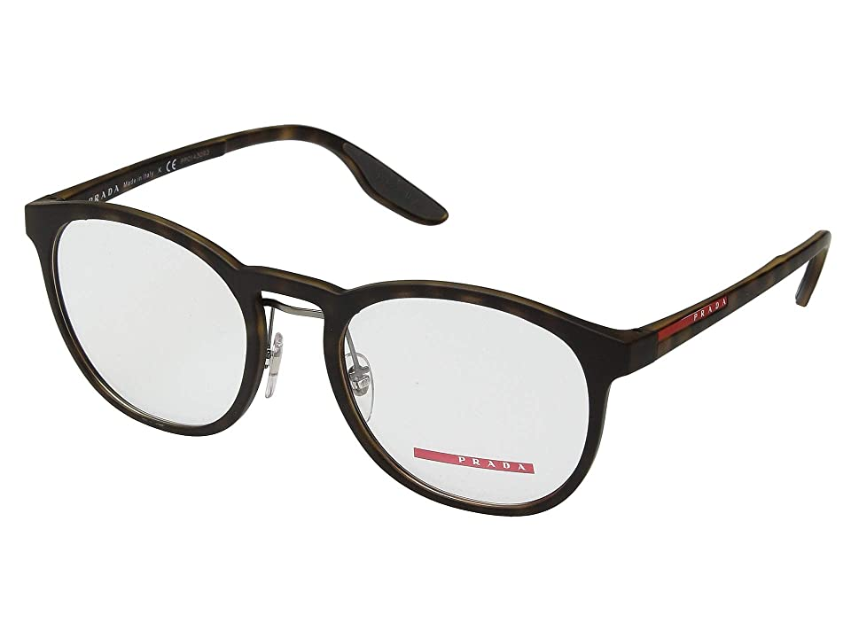 Prada 0PS 05HV (Havana Rubber) Fashion Sunglasses
