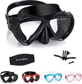 OMGear Diving Mask Snorkeling Gear Kids Adult Snorkel Mask Dive Goggles Silicone Swim Glasses Scuba Free Diving Spearfishi...