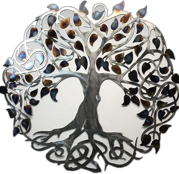 Metal Art Of Wisconsin Keltic Tree Of Life Metal Art Wall Decor Hanging 4 Foot