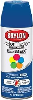 Krylon K05191007 ColorMaster Paint + Primer, Gloss, True Blue, 12 oz.