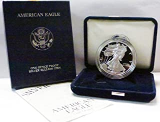 2002 W Proof American Eagle Silver Dollar with Original Packaging and COA $1 PR DCAM US Mint