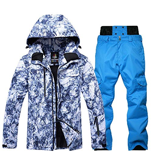 Yhui Schneehosen Frauen Mode Ski Anzüge Herren-Einzel Doppel Platten-Brett Wasserdicht Skianzug Winter-Anzug Männliche Gezeiten männlich Anzug (Farbe : 4, Size : JM+PS)