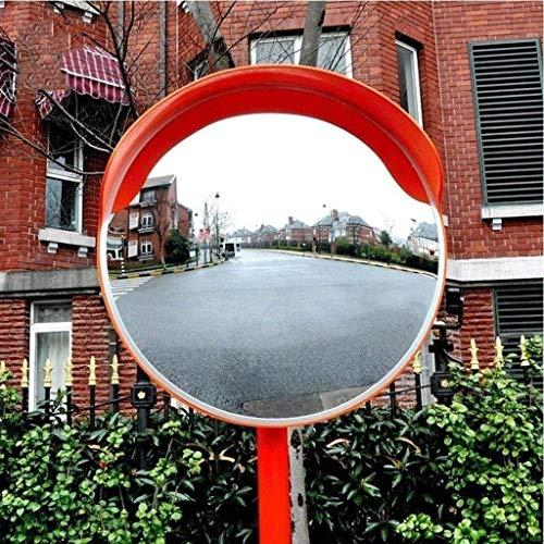 MissZZ Espejo de tráfico Exterior Espejo esférico de Interior Espejo de Seguridad Espejo de tráfico Espejo de Seguridad Vial Convexo, policarbonato Espejo de tráfico irrompible Naranja para vi