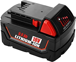 VANON 9.0Ah m18 for Milwaukee 18V Replacement Battery, High Capacity Lithium-ion Battery for Milwaukee M18b 48-11-1820 48-11-1850 48-11-1860 48-11-1828 48-11-10 Cordless Power Tools