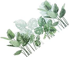NUOBESTY Adesivos de parede de plantas verdes removíveis de PVC, adesivos de parede, murais, decoração de papel para menin...