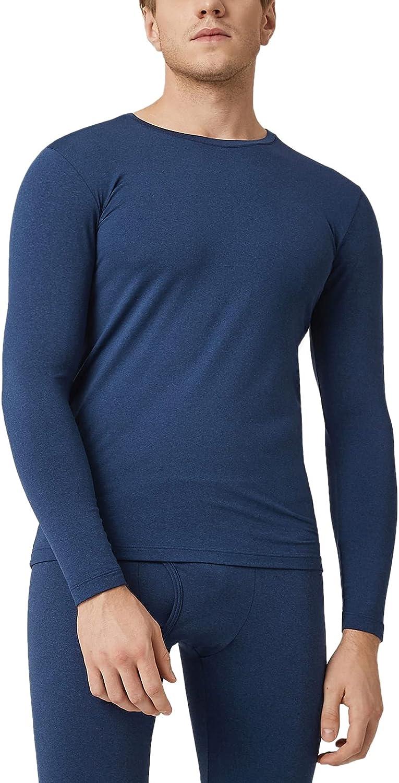 LAPASA Camiseta Térmica Manga Larga para Hombre Pack de 2/Pack de 1 -Brushed Back Fabric Technique- M09/M26/M55