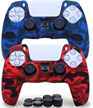 Sofunii 2 Pack Silicone Controller Skins Camo Anti-Slip Cover Case Protector Sleeve for Playstation 5 /PS5 Controller with...