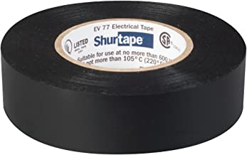 Shurtape EV 77 Professionele Rang, Vinyl Elektrische Tape, UL Vermeld/CSA Goedgekeurd, 7.0 Mil, Zwart, 3/4 Inch x 66 Voete...