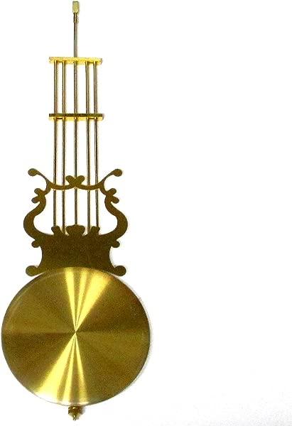 Dans Clock Shop New Traditional Pendulum Rod Bob 400mm Imitation Gold Rod 115mm Bob