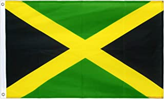 Best hxflag Jamaica Flag 3x5 Foot Jamaican National Flags with Brass Grommets 3 X 5 Ft Review