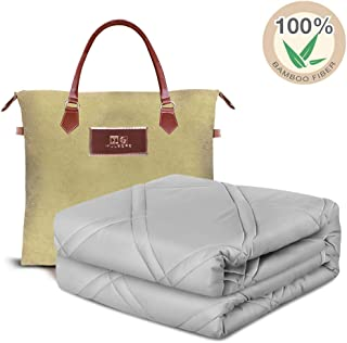 "MG MULGORE Cooling Weighted Blanket | 100% Natural Bamboo with Premium Glass Beads | 60""x80"", 20 lb for 150-200 lbs Individual 