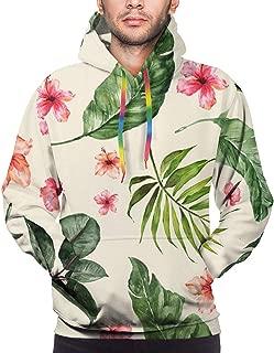 Tropical Hibiscus Janna Cream Pullovers Hoodie Long Sleeve Hooded Athletic Hoodies Sweatshirts