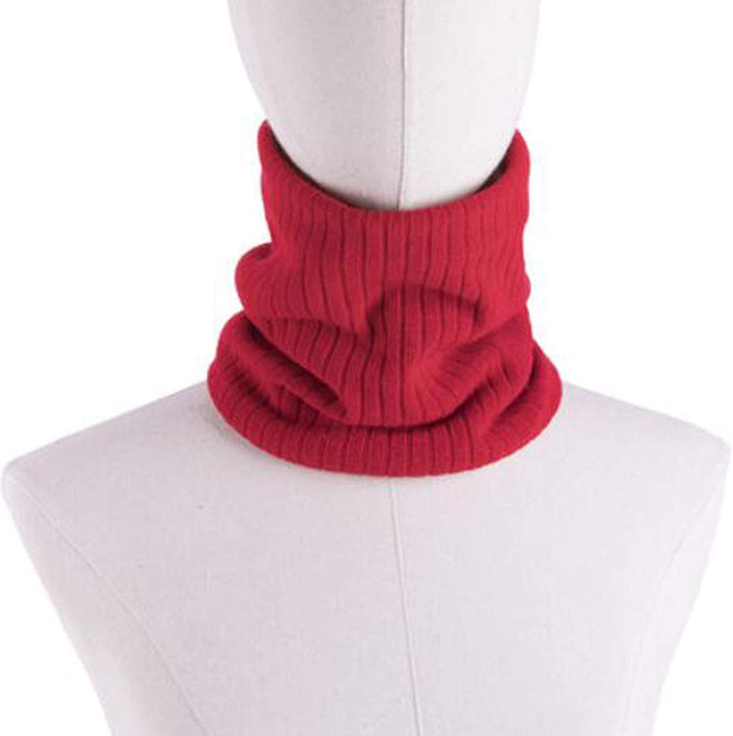 XIURAB Autumn and Winter Knitted Pullover Scarf, Thick Cold-Proof Scarf, Multi-Functional Outdoor Warm Collar