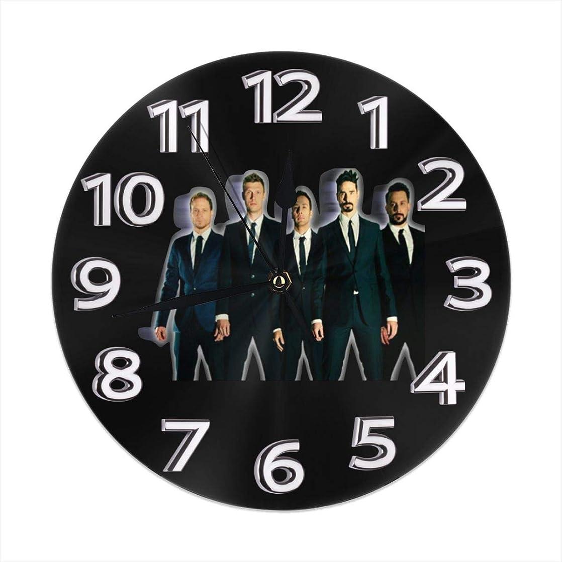 押す祈りブレンド壁時計 壁掛け時計 バックストリート ボーイズ Backstreet Boys 飾る時計 ウォール時計 静かな 円形 インテリア アート