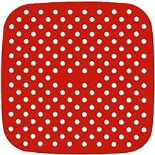 YYID Forros reutilizáveis para fritadeira a ar – quadrados de 21 cm, os tapetes originais de silicone antiaderente para fr...
