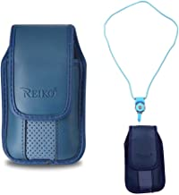 Blue Around The Neck Hanging Lanyard Magnetic Top Case fits GreatCall Samsung Jitterbug FLIP Phone