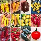 120 Semi dei 12 Peperoncini più Buoni del Mondo - Collezione Gourmet: Lemon Reaper, Habanero, Aji più Guida Coltivazione