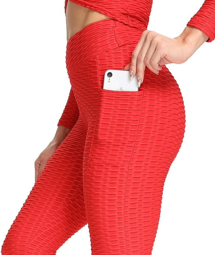 Kiwi rata, leggings sportivi donna, pantaloni anticellulite vita alta, leggins yoga  push up EUYDOZYY441