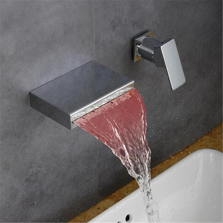 Cu alle LED Wasserfall Becken heie und kalte Wand montiert Armaturen, Rot