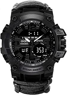 6-in-1 Top Brand Men Sports Watches Dual Display Analog Digital LED Electronic Quartz Wristwatches Waterproof Swimming Military Watch