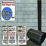 carbon fiber wall repair kit - 100 ft-Carbon Fiber-Basement Wall Crack Repair Kit