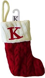 St. Nicholas Square Mini Cable Knit Stocking-Letter K, Mini 7