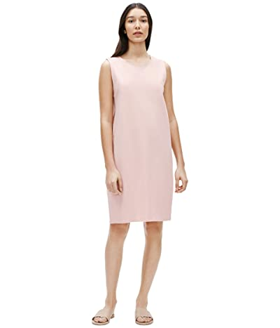 Eileen Fisher Jewel Neck Lantern Dress (Powder) Women