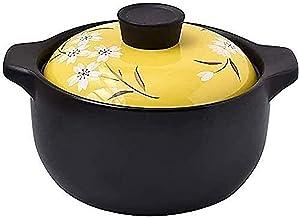 ZMYC Kitchen Pots, Terracotta Hot Pot, Stock & Pasta Pots Ceramic Casserole Health Soup Pot, Milk Dessert Cooking Rice Hea...