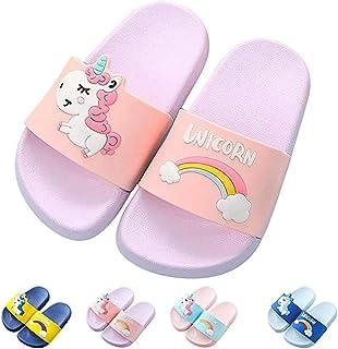 Kids Unicorn Slide Sandals Comfort Beach Pool Slippers Bath Water Shoes for Girls Boys (Toddler/Little Kid)