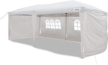 Goutime 10x20 Ft Ez Pop Up Canopy Tent 4Pcs 10Ft Removable Sidewalls Wheeled Bag Outdoor Party Events