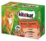 Kitekat Kitekat Multipack 12x100g Bunte Vierfalt in Soße, 4er Pack (4 x 1.2 kg)