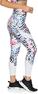 Rockwear Activewear Women's Fl Perforated Print Tight from Size 4-18 for Full Length High Bottoms Leggings + Yoga Pants+ Yoga Tights