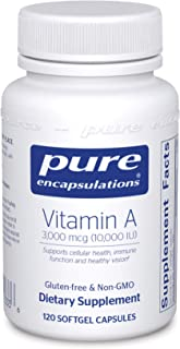 Pure Encapsulations - Vitamin A 10,000 IU - Supports Vision, Growth, Reproductive Function, Immunity, Skin and Mucous Memb...
