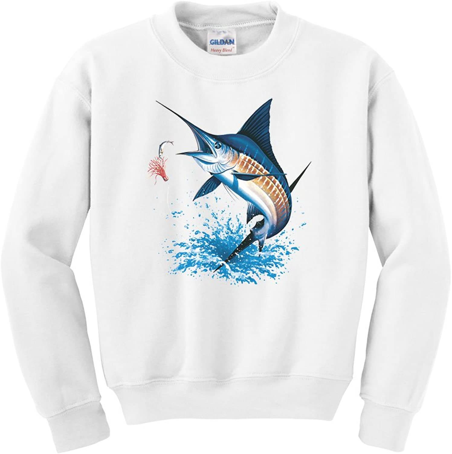 Express Yourself blueee Marlin Crew Neck Sweatshirt  Mens Sizing