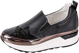 [23-25cm] スリッポンシューズ レディース ローファー 厚底 ナースシューズ 履きやすい ウォーキングシューズ レディース カジュアル 通気性 靴