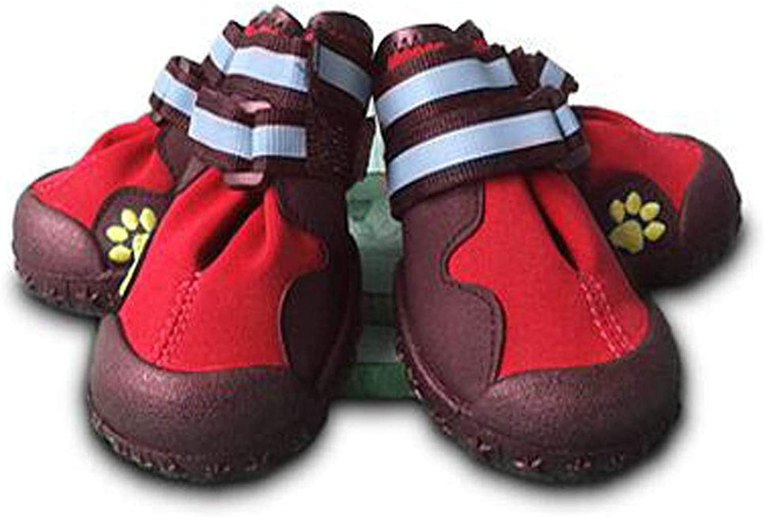 Dog shoes, Dog Walking shoes, Medium Dogs, Large Dog Waterproof shoes, Dog Casual shoes, Pet Supplies, Red (8 ) (color   Red, Size   8 )