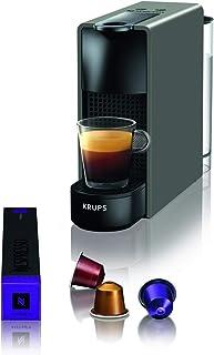 Krups Cafetière à capsules Nespresso Essenza Mini (1260watt, technologie de chauffe Thermoblock, 0,7litre, 19bar) sans ...