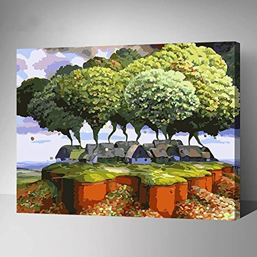 [WOODEN FRAMED] Diy Oil Painting Paint By Number  Kit for Adult-Dream World 16X20 Inch