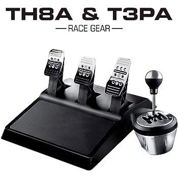 Thrustmaster 4060129 TH8A & T3PA Race Gear - Boîte de Vitesses manuelle/Séquentielle haut de Gamme avec Pédalier 3 Pédales multiplateformes