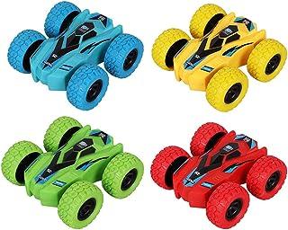 YuWei Smart Kids Voitures de Jouet à Friction à Traction Arrière, Poussée Double Face et Marche à 360 ° Rotatif Stunt Véhi...