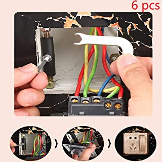 6pcs Screws for Effortless Repairs Broken Damaged or Stripped Electric Wall Boxes/Outlet Boxes, Even Can be Used for a Completely Damaged Wall Box or Only a Hole