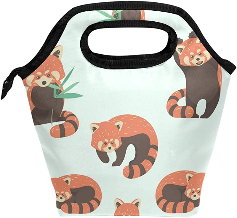 My Daily Lunch Box Cute Red Panda Reusable Insulated School Lunch Bag For Women Kids