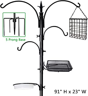 multiple bird feeder pole
