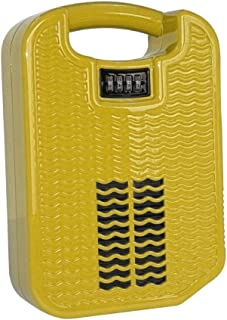 beachsafe Yellow Portable Safe Box for Travel with Built-in Charger, Securing Cable, and Internal Cooling Fan (Sunshine Yellow)