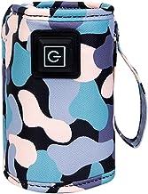 Lingge Draagbare flessenwarmer, tas, draagbare warmer, voor babymelk, 5 V 2 A melkflessenwarmer voor auto, thuis, reizen, ...
